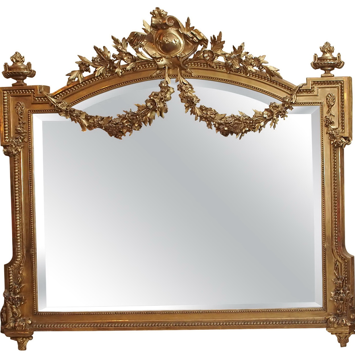 Antique Gold Leaf Mirror