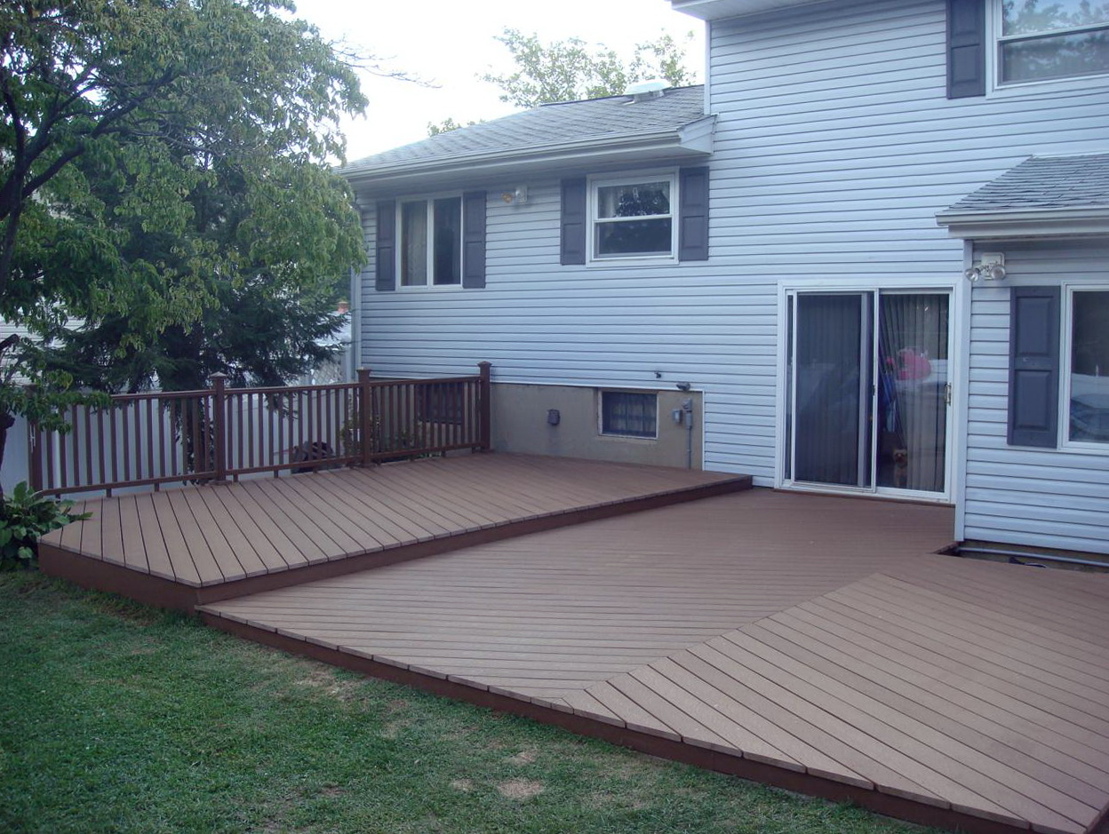 Backyard Deck Ideas Ground Level