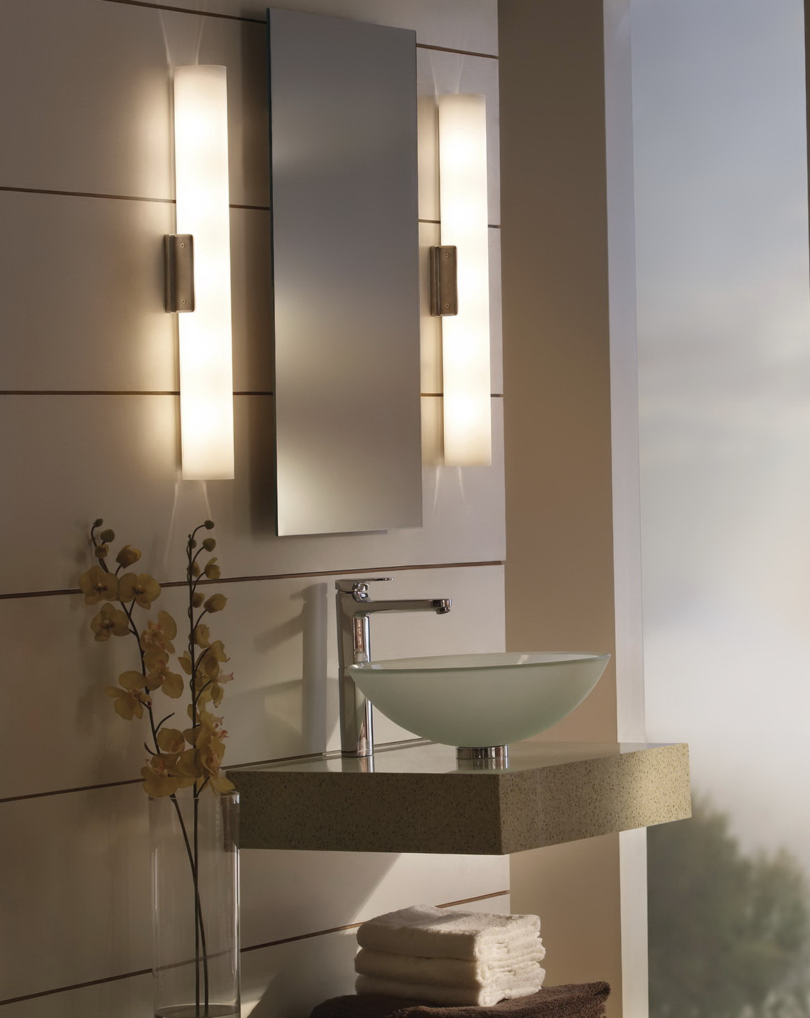 Bathroom Mirrors With Lights In Them Home Design Ideas