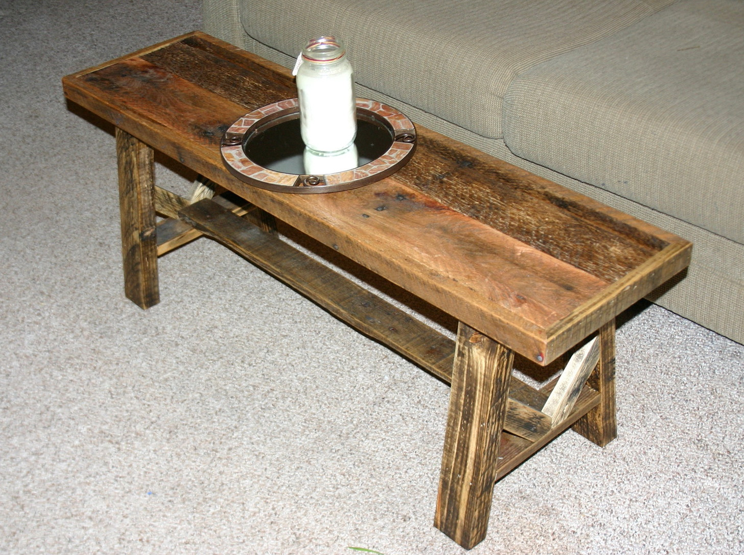 Bench Coffee Table Narrow Home Design Ideas