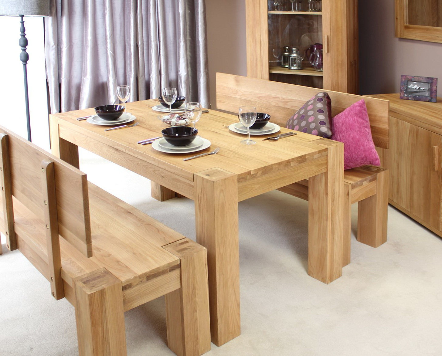 Bench For Dining Table With A Back