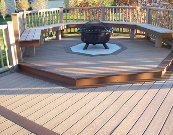 Building A Fire Pit On A Wood Deck