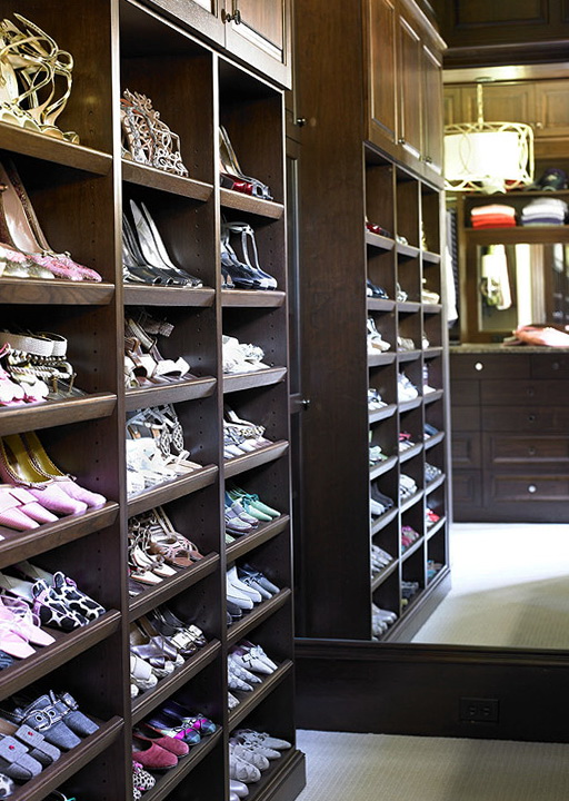Built In Shoe Racks For Closets Home Design Ideas