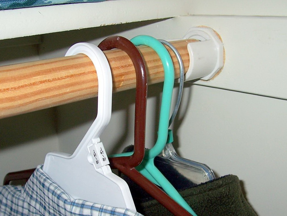Closet Rod Bracket For Angled Wall Home Design Ideas