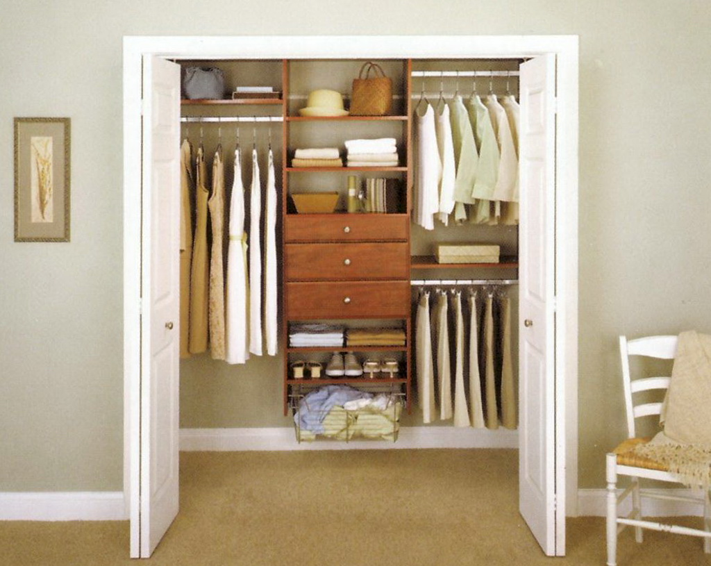 Closet storage ideas for small closets home design ideas Small closet shelving ideas