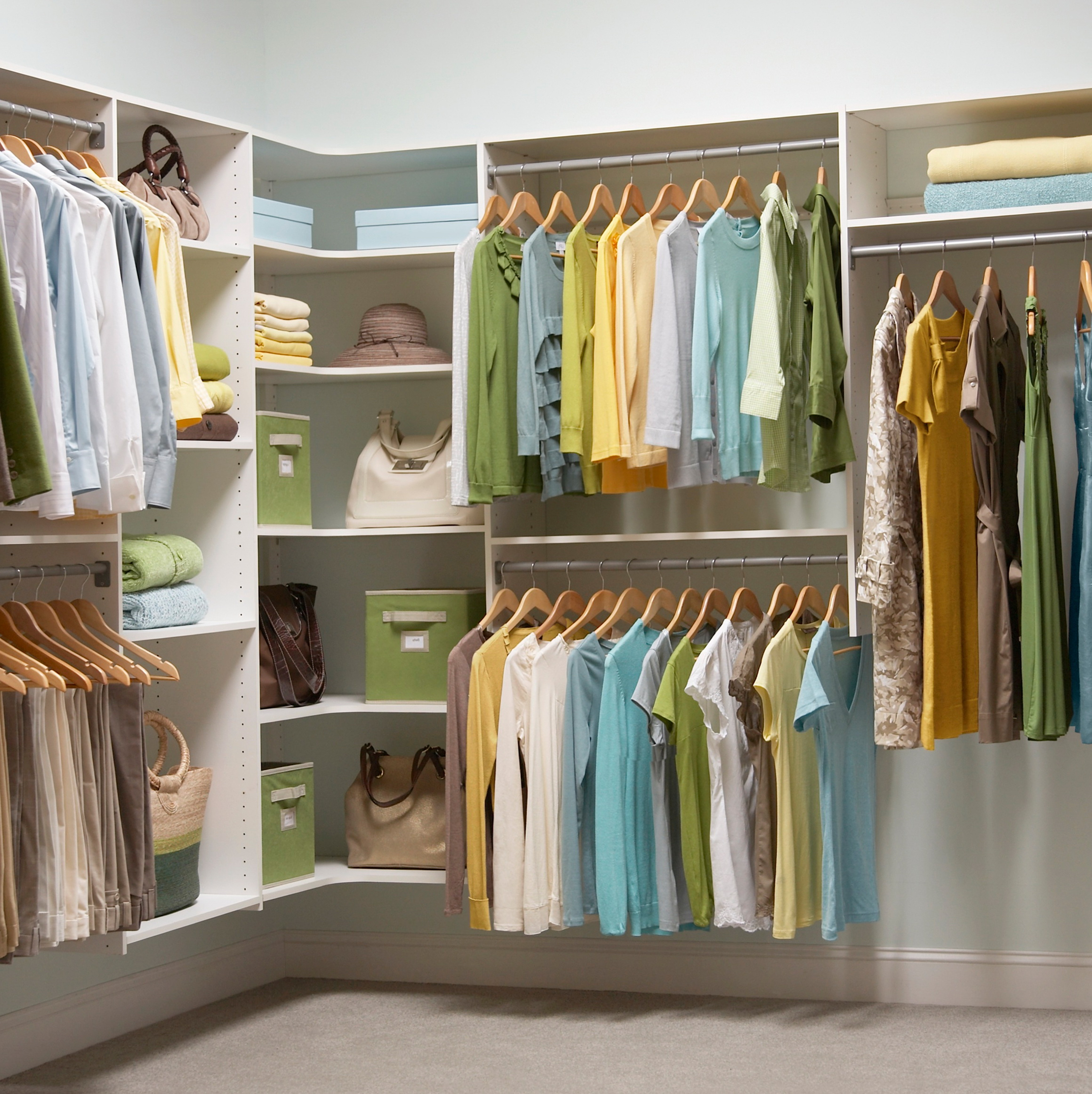 Corner Closet Organizer Home Depot | Home Design Ideas