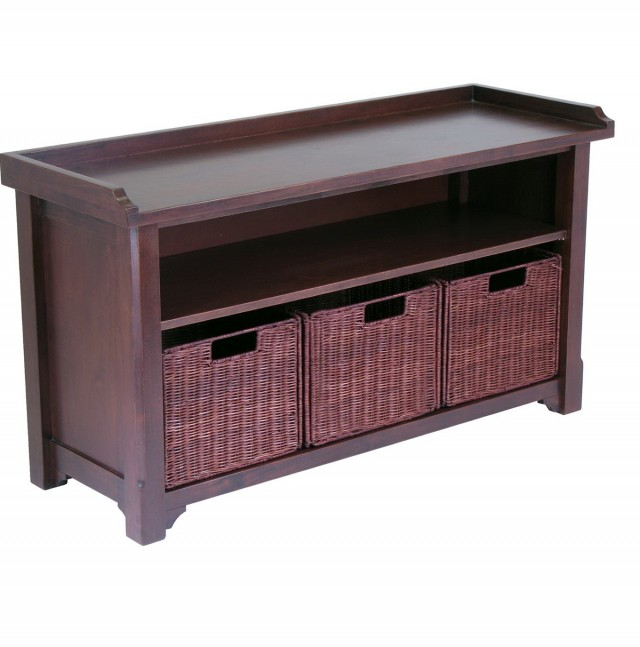 Cubby Bench With Baskets