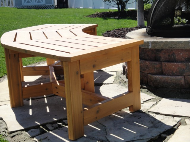 Curved Outdoor Bench Plans
