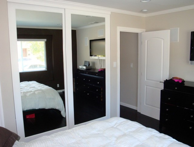 Custom Mirrored Closet Doors