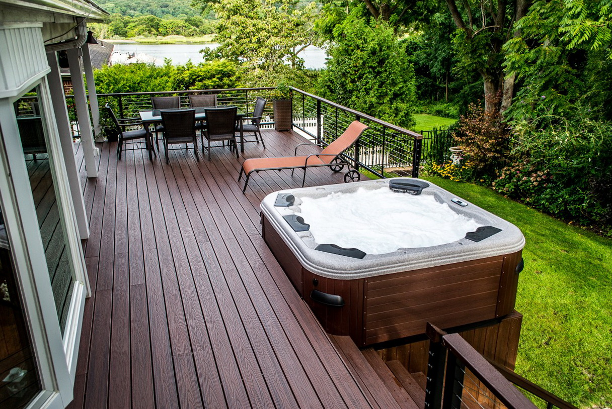 Deck Design Ideas With Hot Tub
