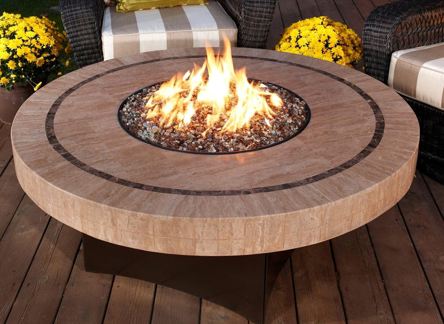 Deck Fire Pit Table Home Design Ideas