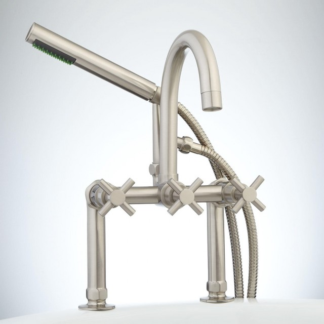 Deck Mount Tub Faucet And Hand Shower