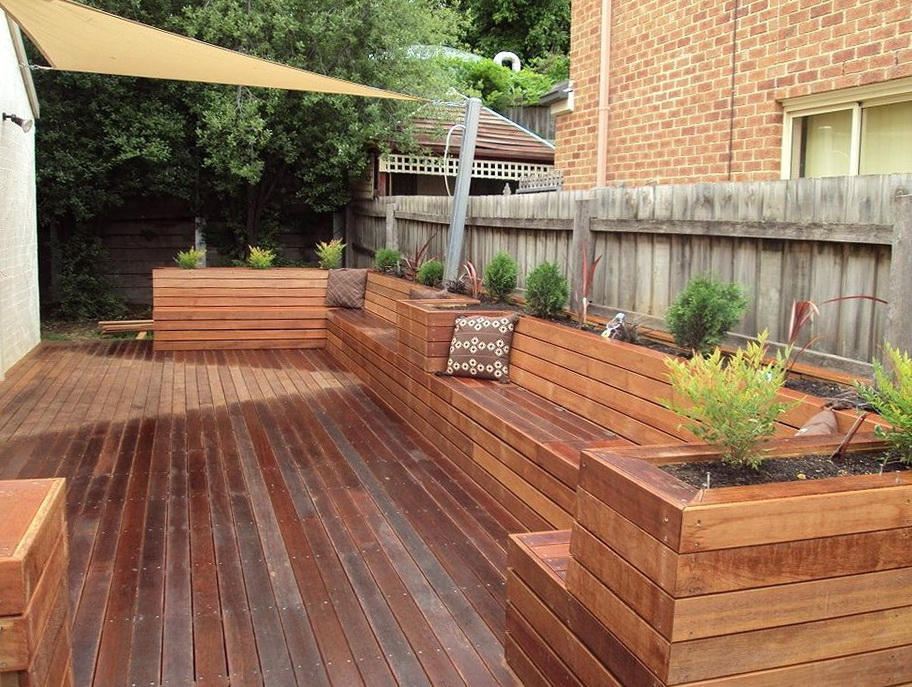 Deck Planter Box Bench Home Design Ideas