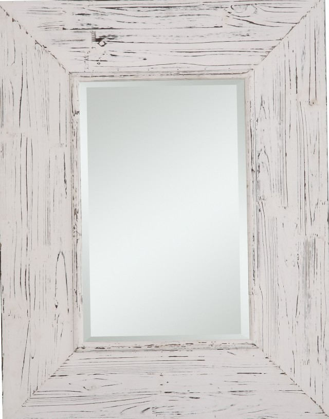 Distressed Wood Wall Mirror
