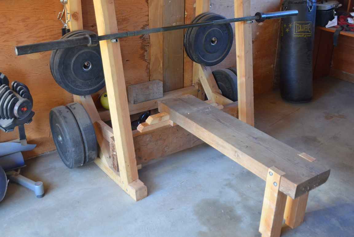 Diy Bench And Squat Rack Home Design Ideas