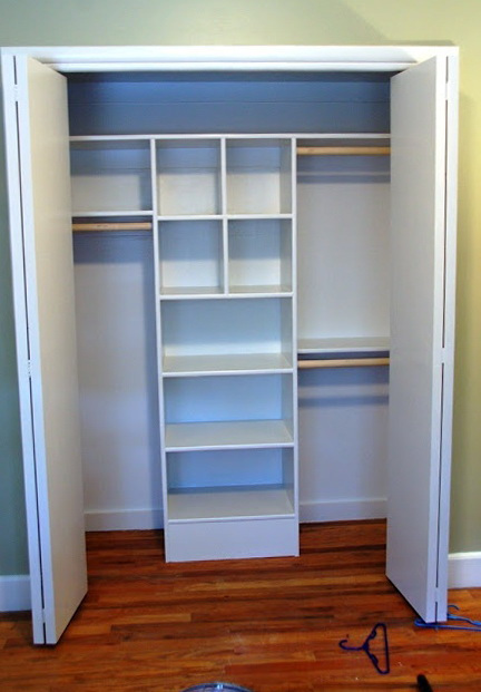 diy closet shelves mdf home design ideas. Black Bedroom Furniture Sets. Home Design Ideas