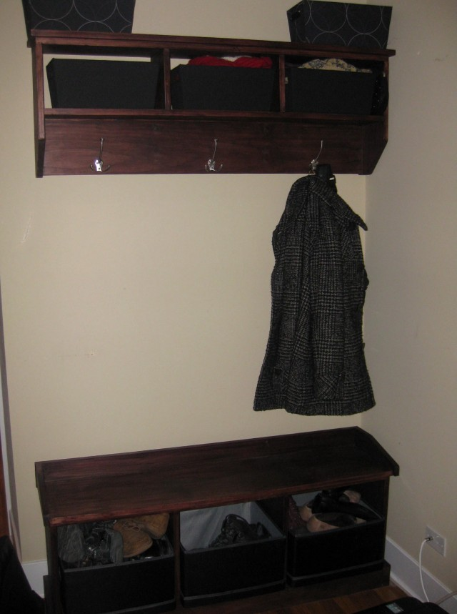 Entryway Corner Bench And Shelf