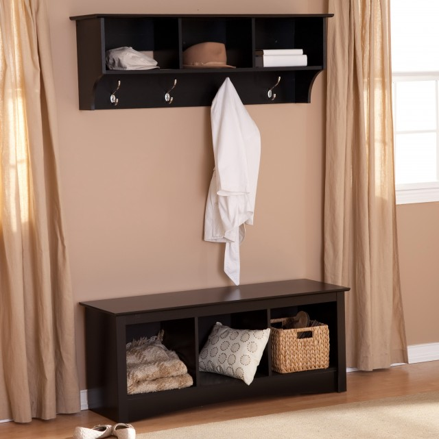 Entryway Shoe Storage Bench Coat Rack