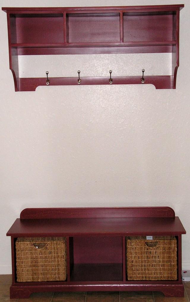 Entryway Storage Bench And Shelf
