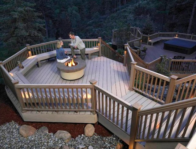 Fire Pit On Wood Deck Plans