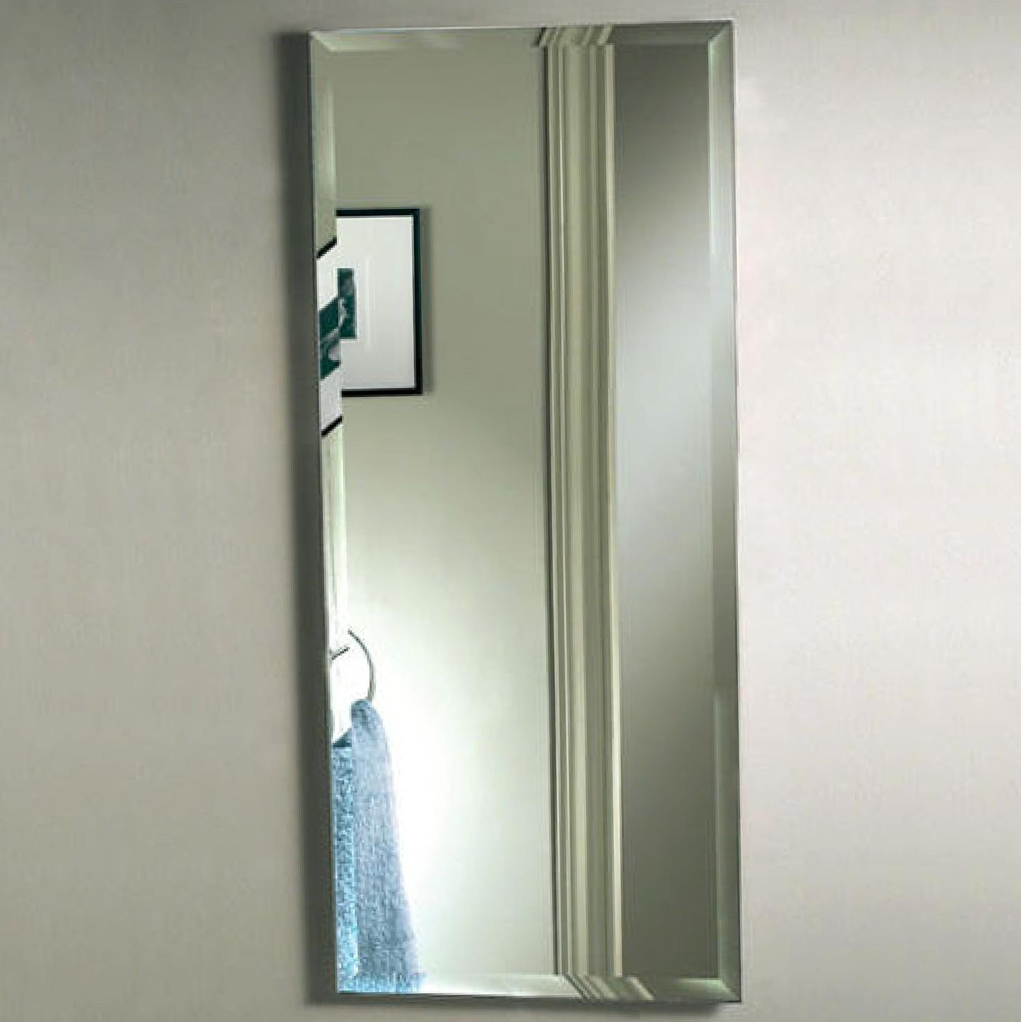 Frameless Beveled Mirror Medicine Cabinet