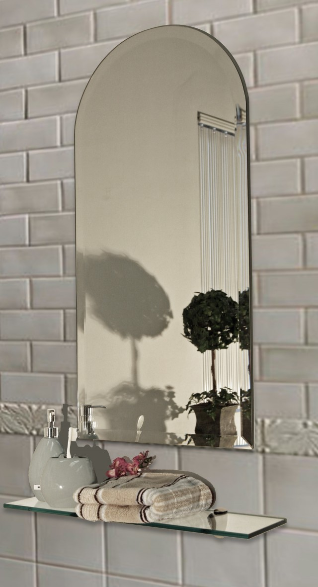 Frameless Beveled Mirror Tiles