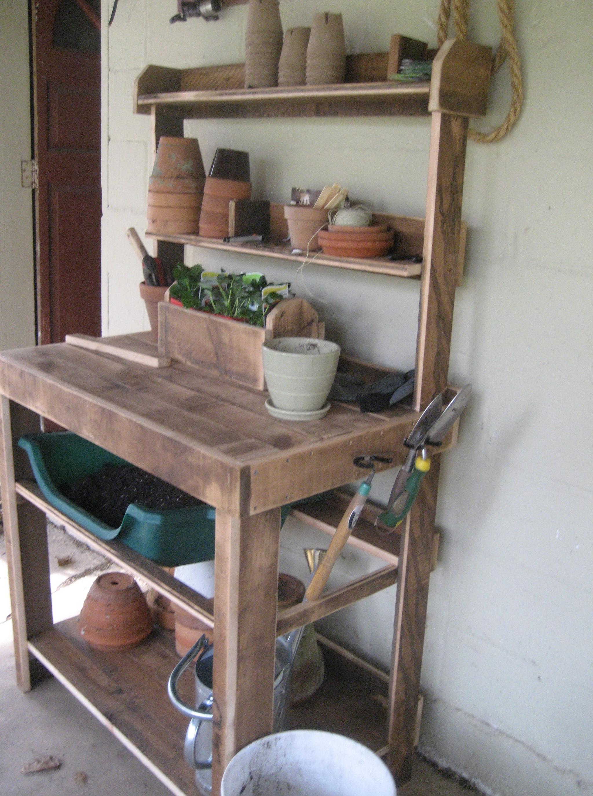 Garden Potting Bench Plans Free