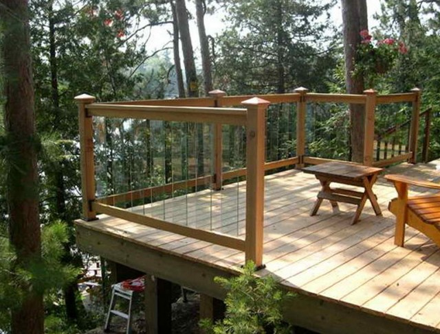 Glass Deck Railing Lowes Home Design Ideas