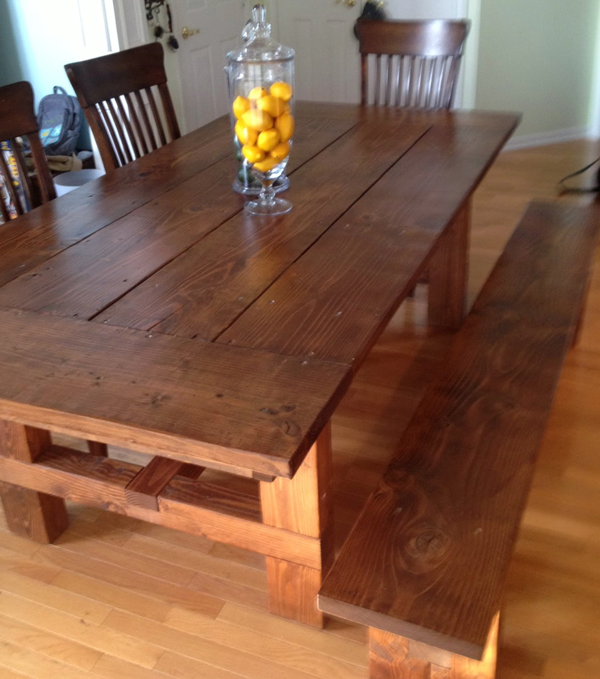 How To Build A Bench For Dining Table