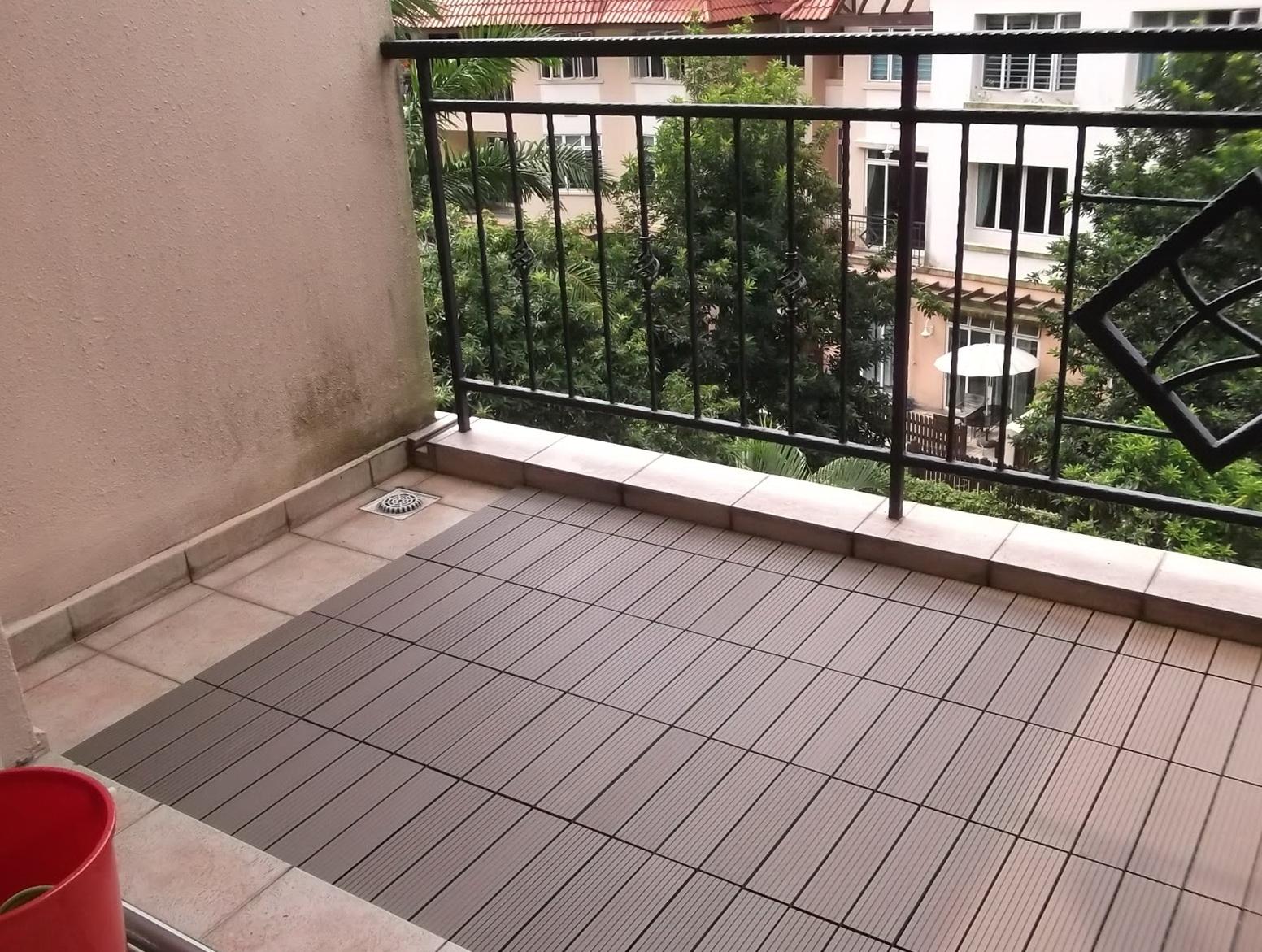 Interlocking Deck Tiles Installation
