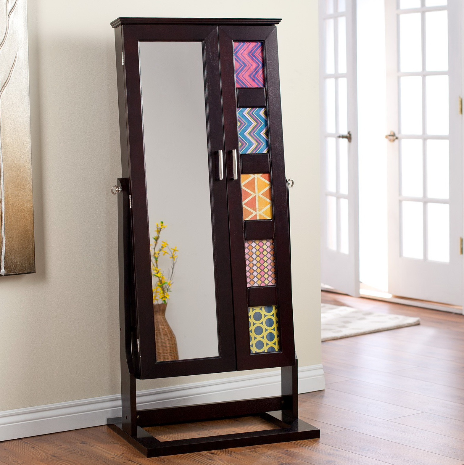 Jewelry Armoire With Mirrored Front Home Design Ideas