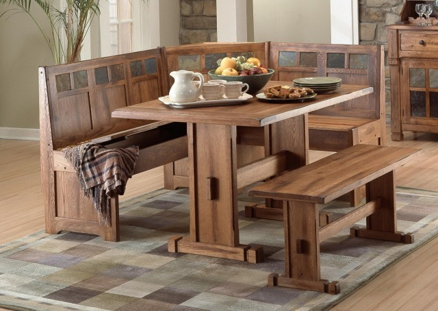 Kitchen Tables With Bench Seating