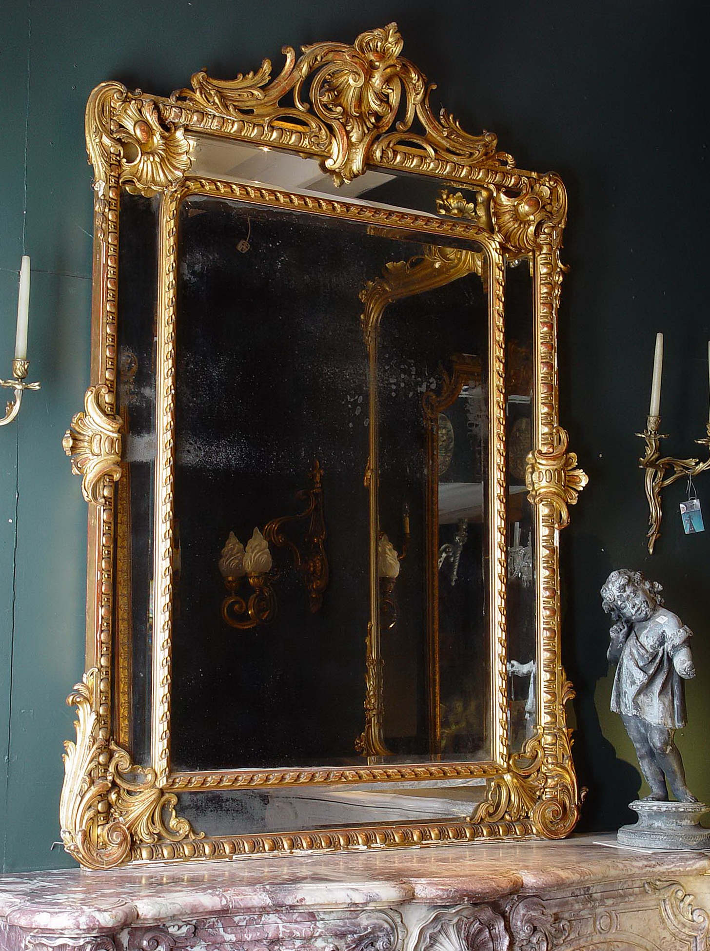 Large Antique Gold Mirror Home Design Ideas