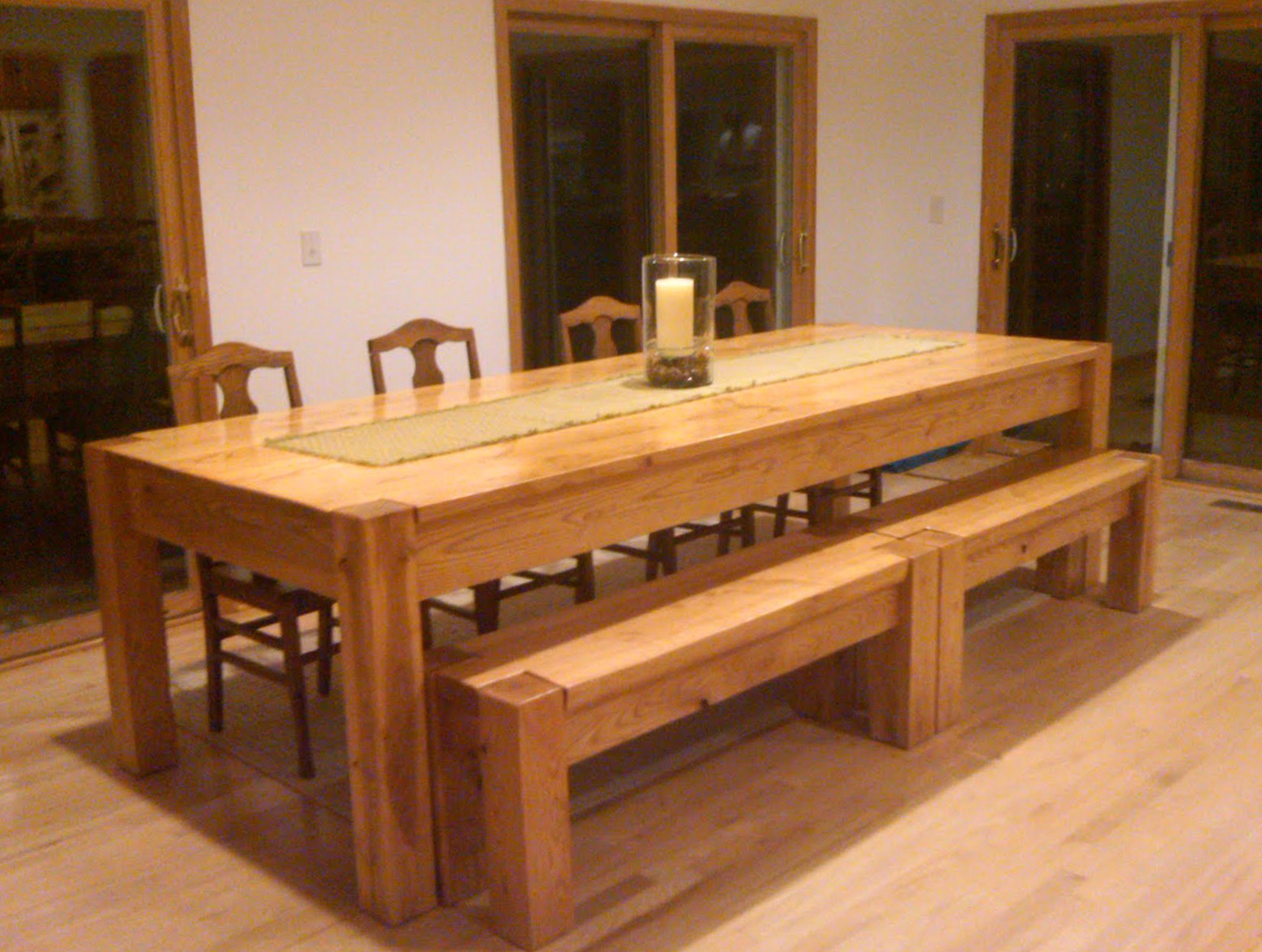 Large Kitchen Tables With Benches