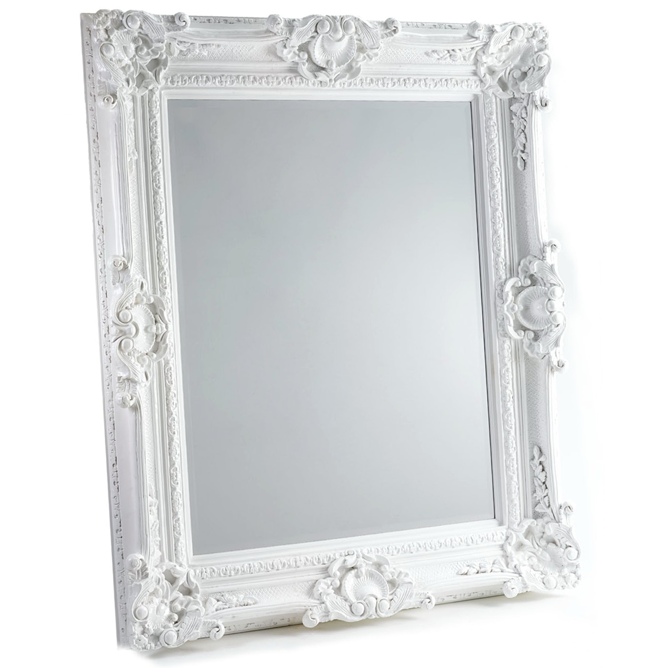Large White Baroque Mirror