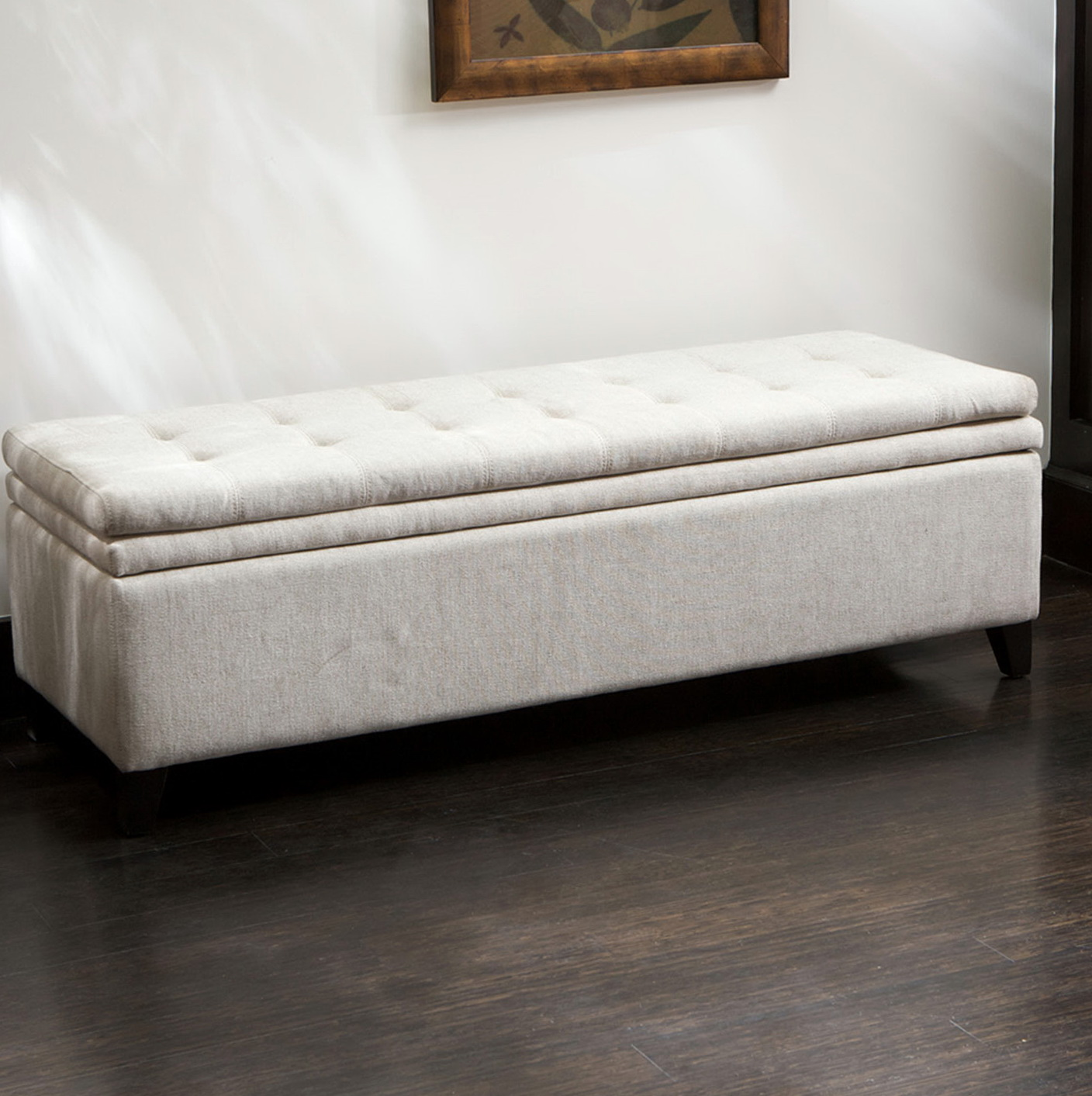 Long Ottoman Bench With Storage Home Design Ideas