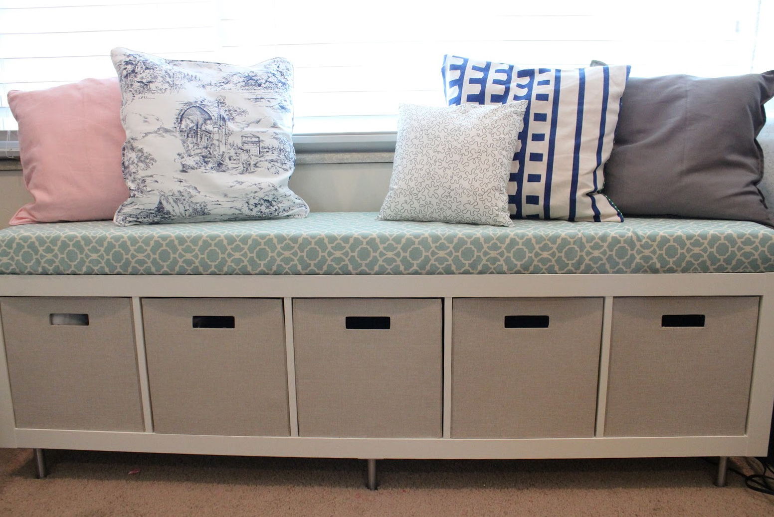 Long Storage Bench With Cushion Home Design Ideas