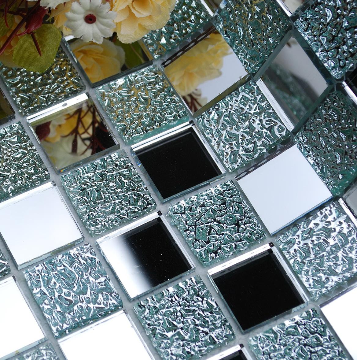 Mirror Mosaic Tiles Bathroom