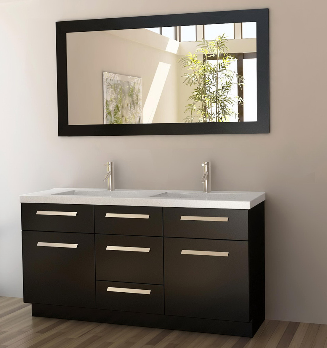 Mirror Size For 60 Inch Vanity Home Design Ideas