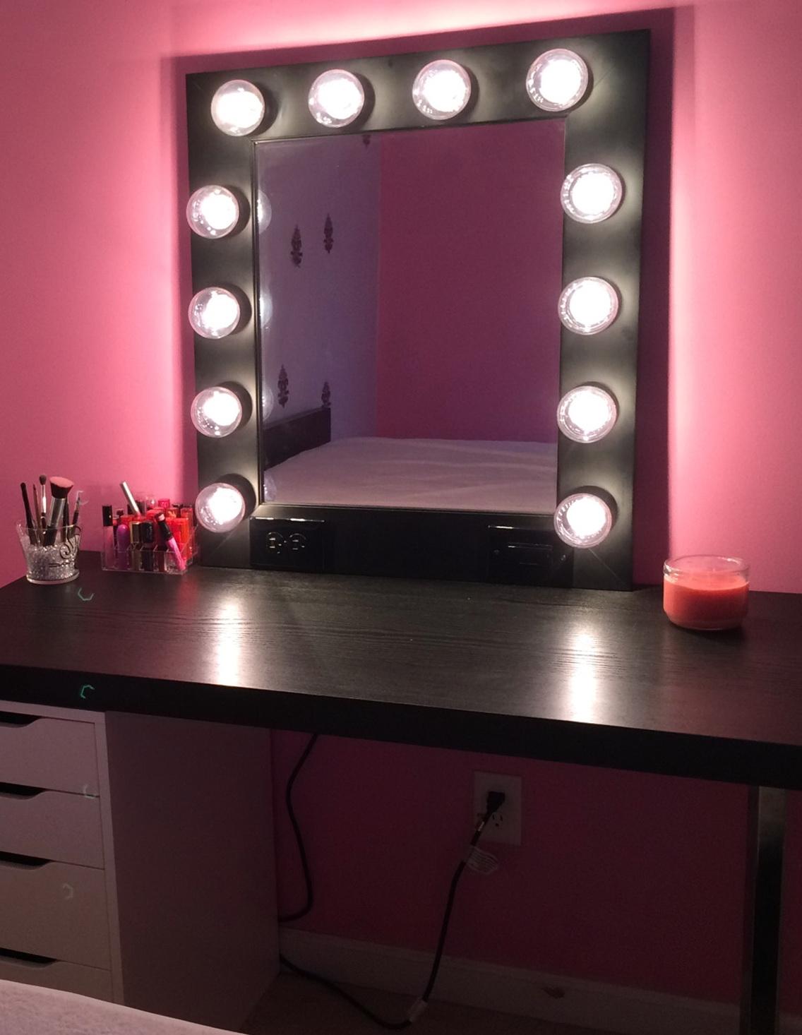 Mirror With Light Bulbs Around It Ikea