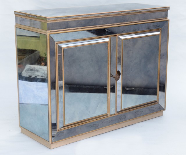 Mirrored Art Deco Bar Cabinet