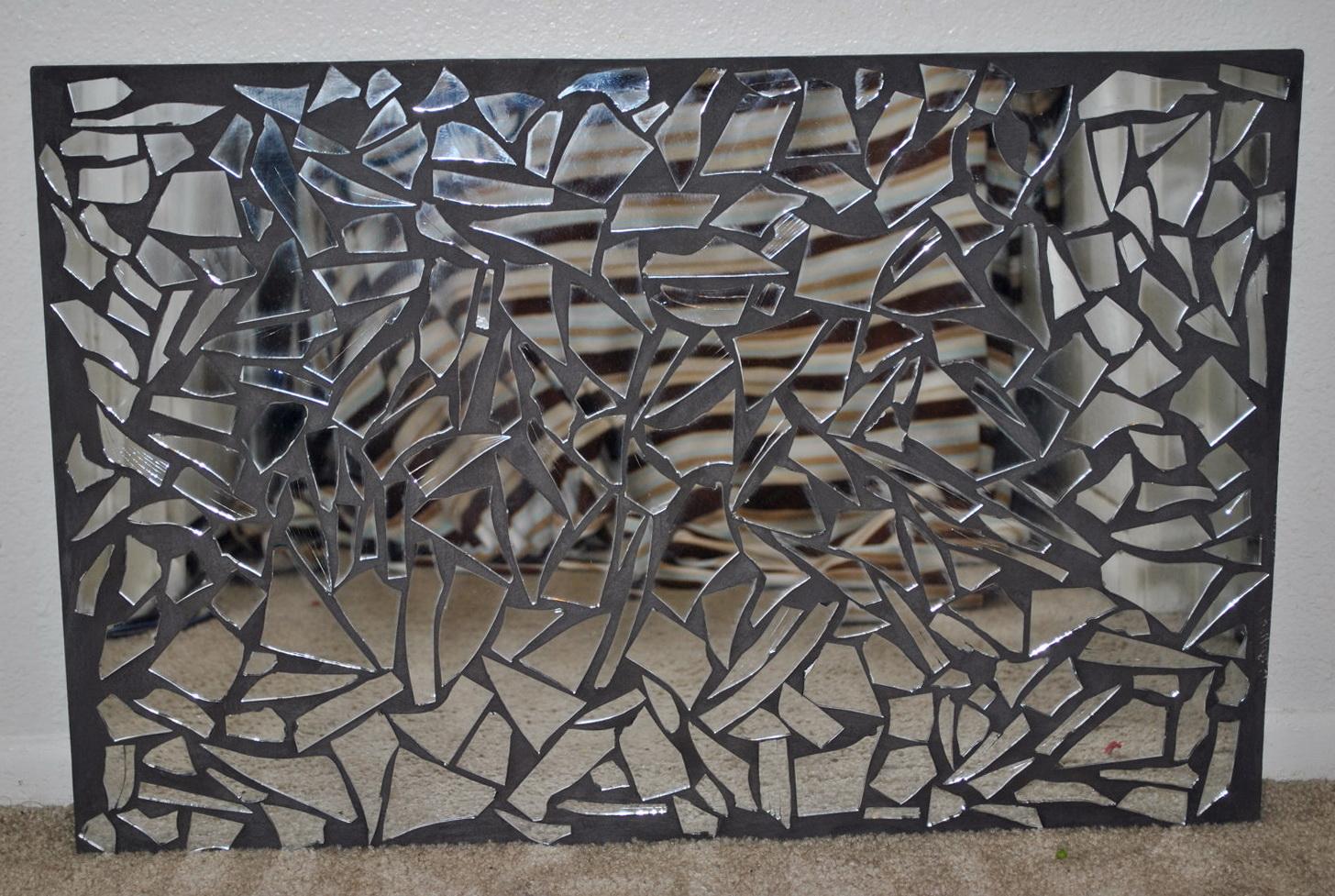 Wall Stickers Decor Modern Mirrored Mosaic Wall Art Home Design Ideas