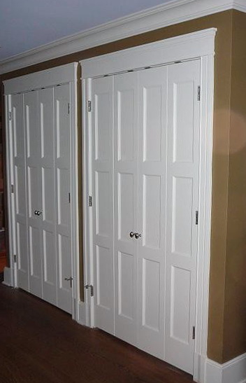 Modern Louvered Closet Doors