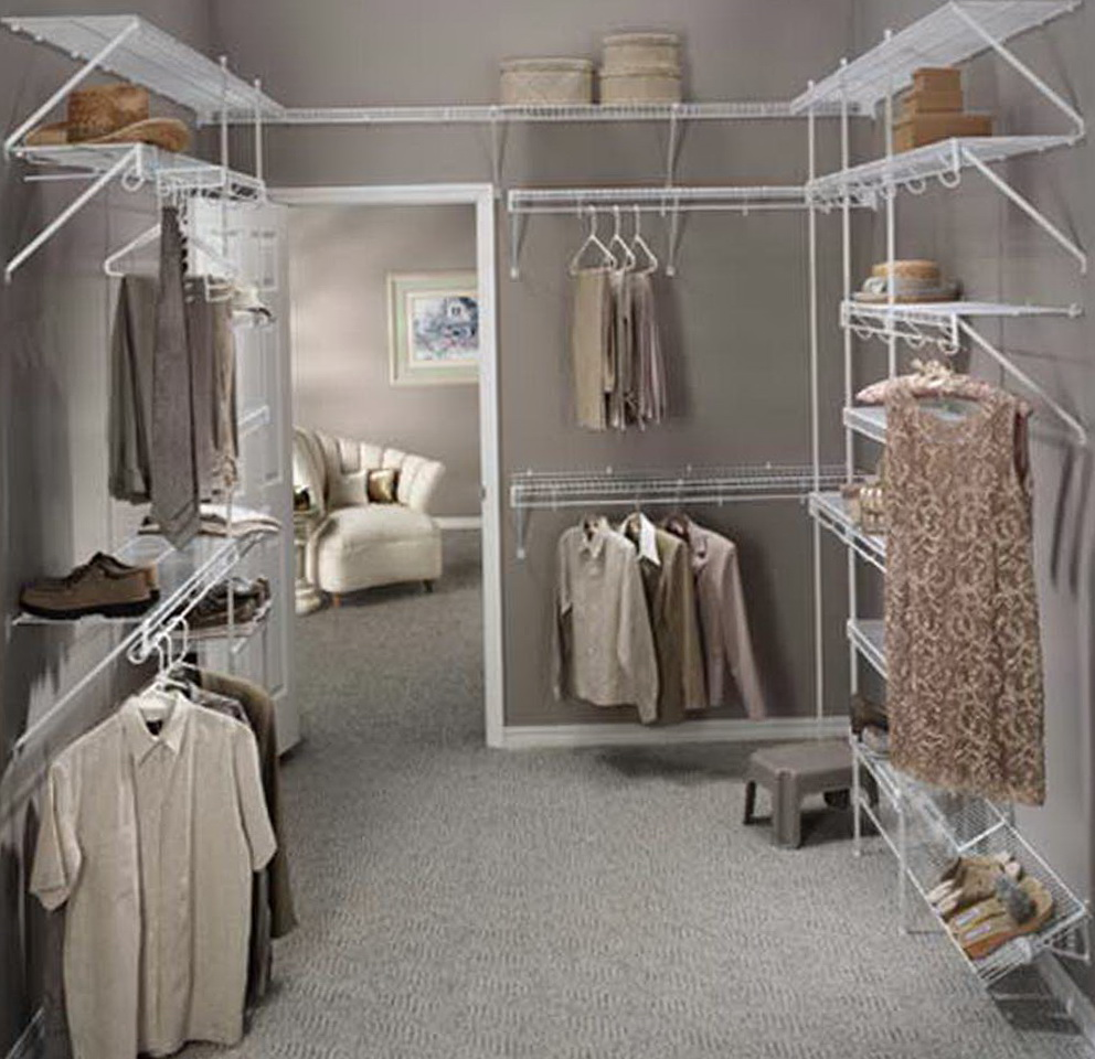 Narrow Walk In Closet Organizers Home Design Ideas