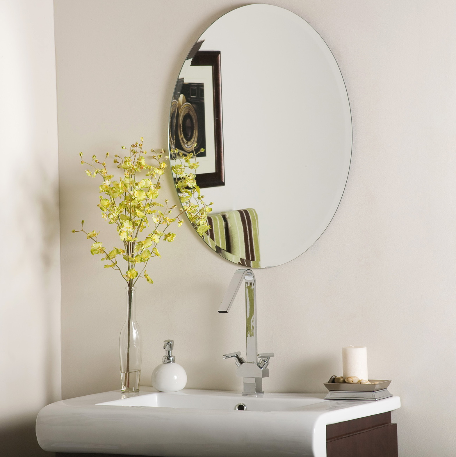 Oval Mirror Beveled Edge