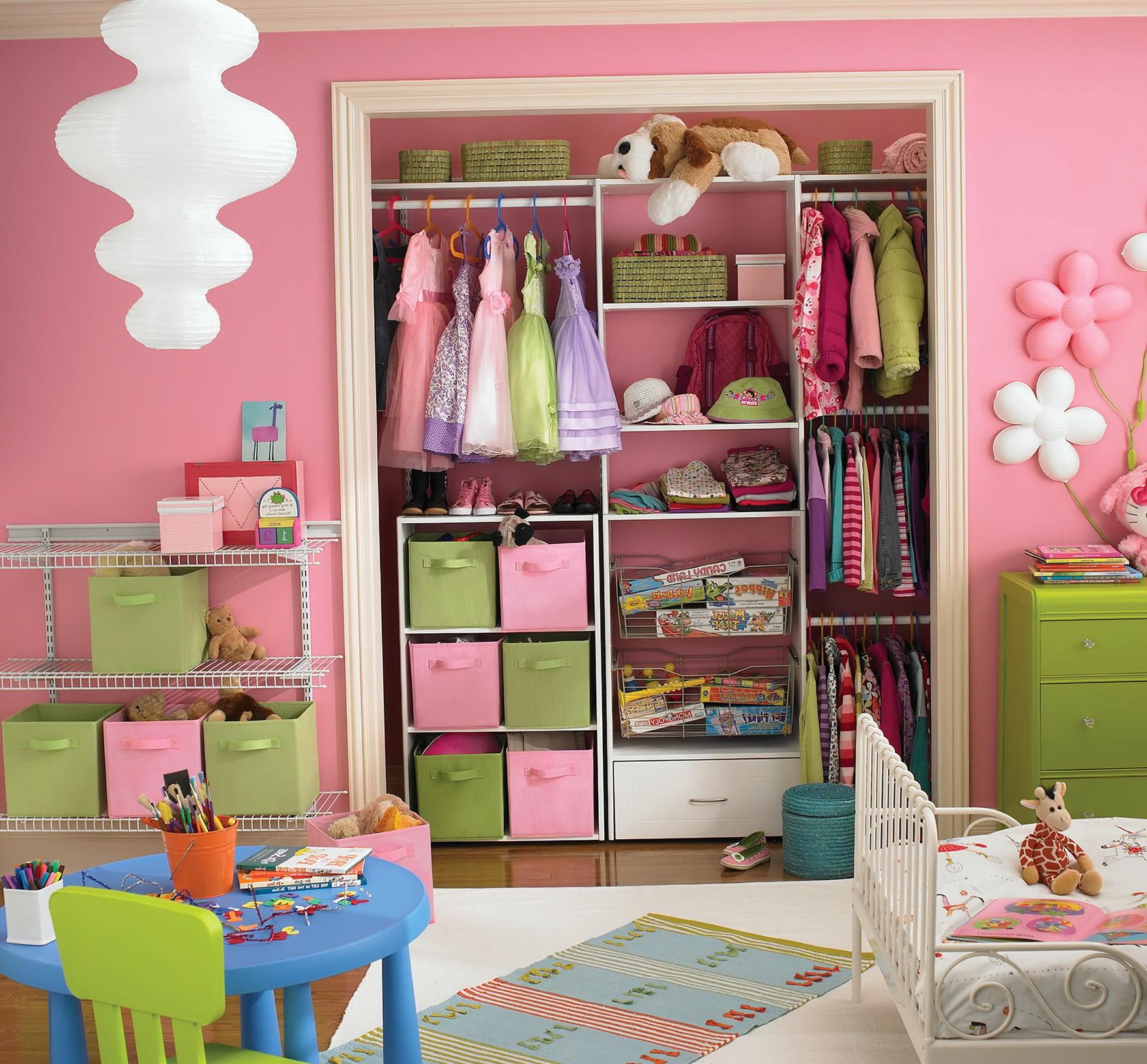 Pink Hanging Closet Organizer