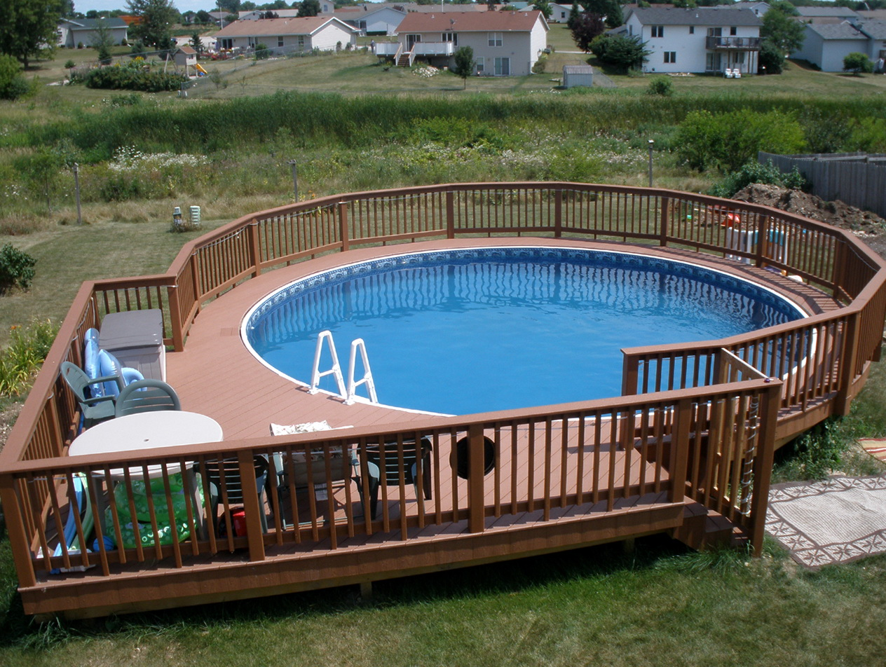 Above Ground Round Pool With Deck. Pool Deck Plans 27 Foot Round Above  Ground With