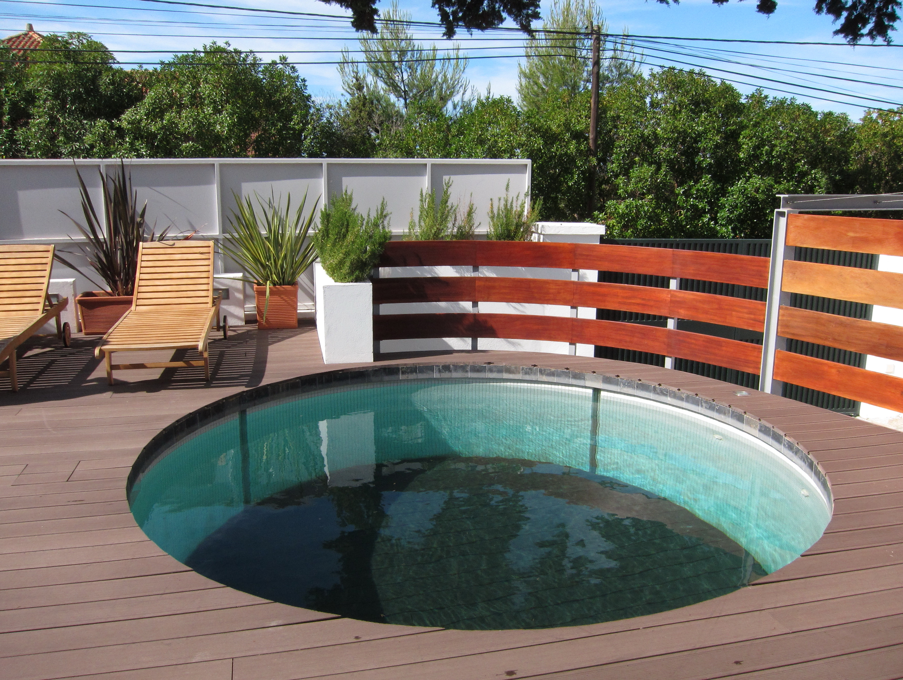 Above Ground Round Pool With Deck Plans E