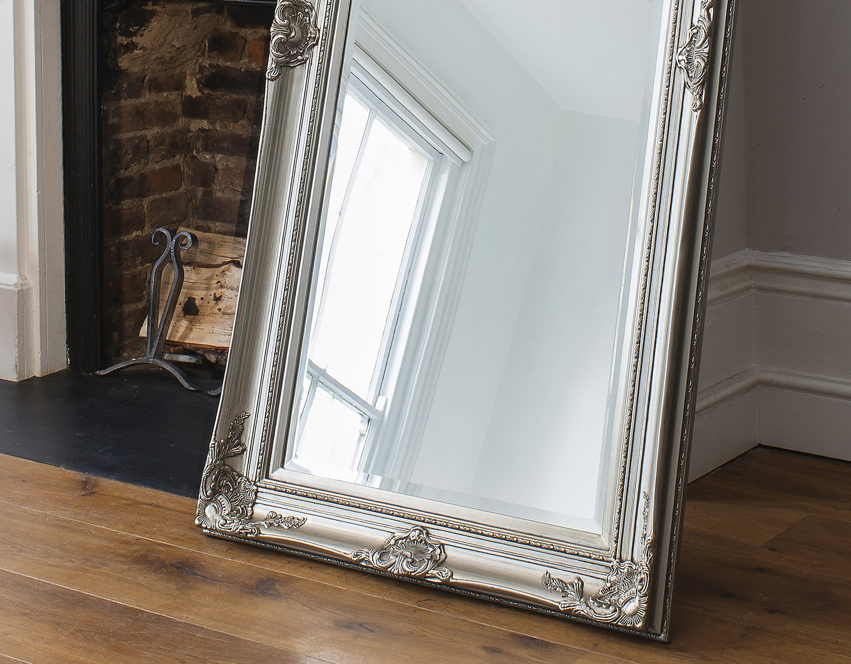 Silver Floor Mirror Large