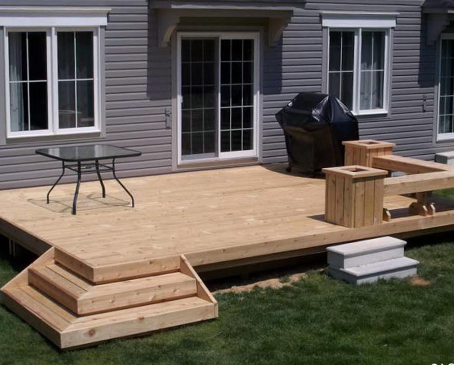Simple deck design ideas home design ideas for Easy deck ideas